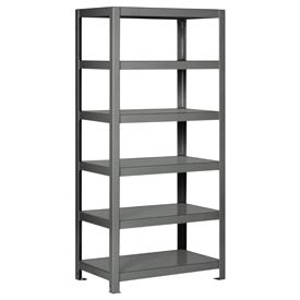 "Pucel - All Welded Steel Shelving - 30""W x 18""D Gray"