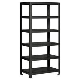 "Pucel - All Welded Steel Shelving - 36""W x 18""D Black"