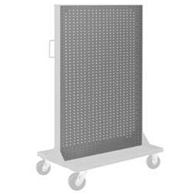 "Pucel Pegboard Panel 36"" x 61"" for Portable Bin Cart Gray"