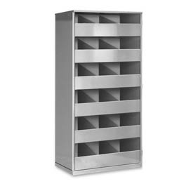 Steel Storage Bin Cabinet without Door - Gray