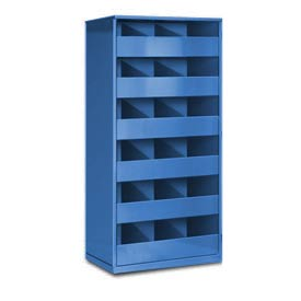 Steel Storage Bin Cabinet without Door - Blue