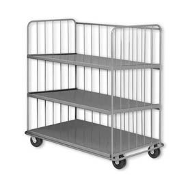 Pucel™ SS-72 Sliding Shelf Truck with Phenolic Casters 2000 Lb. Capacity