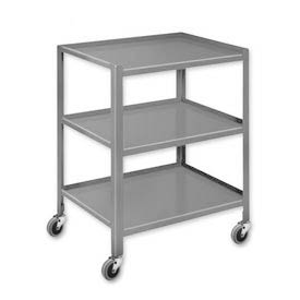 Pucel™ TU-2028-3 Shop Stand 3 Shelves with Foot Pads 28 x 20