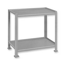Pucel™ TU-2324-2 Shop Stand 2 Shelves with Foot Pads 24 x 23