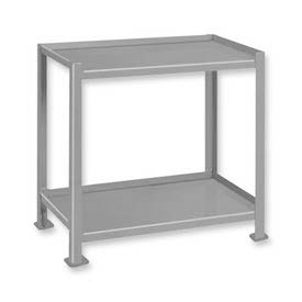"Pucel™ TU-2436-2 Mobile Table 2 Shelves with 5"" Casters - 36""L x 24""W"