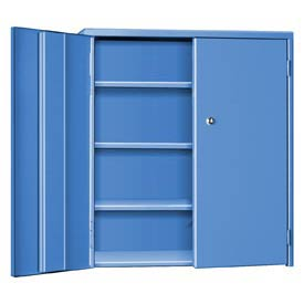 "Pucel Wall & Bench Cabinet WBC-2621 - 26-1/2""W x 9""D x  21""H, Blue"