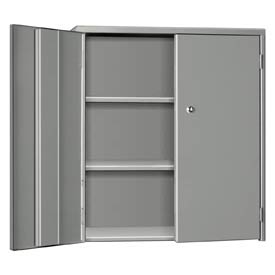 "Pucel Wall & Bench Cabinet WBC-2630 - 26-1/2""W x 9""D x  30""H, Gray"