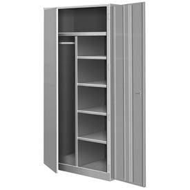 All Welded Combination Cabinet - Gray
