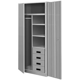 All Welded Combination Cabinet w/Drawers - Gray