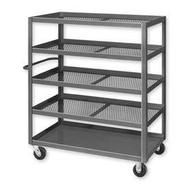 Pucel™ X-1836 Expanded Metal Stock Cart Steel Casters 2000 Lb. Cap.