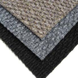 "Berber Polypropylene Carpet Tiles, 19-11/16""L X 19-11/16""W, 1/2"" H, Charcoal"