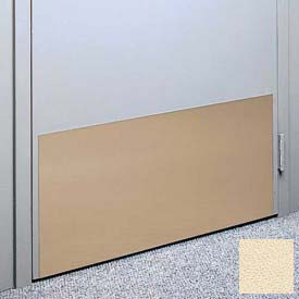"Kick Plate Made From .040"" Pvc Sheet, 24"" X 32"", Ivory - Pkg Qty 3"