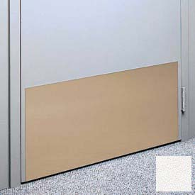 "Kick Plate Made From .040"" Pvc Sheet, 24"" X 32"", Linen White - Pkg Qty 3"