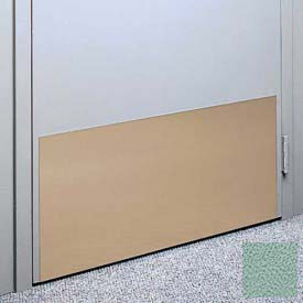 "Kick Plate Made From .040"" Pvc Sheet, 24"" X 32"", Sage Green - Pkg Qty 3"