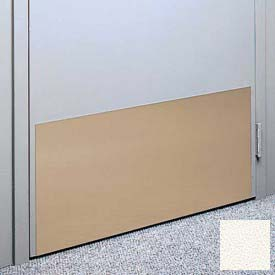 """Kick Plate Made From .040"""" Pvc Sheet, 12"""" X 32"""", Dover White - Pkg Qty 6"""