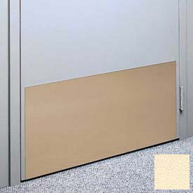 "Kick Plate Made From .060"" Pvc Sheet, 24"" X 48"", Pale Yellow - Pkg Qty 2"