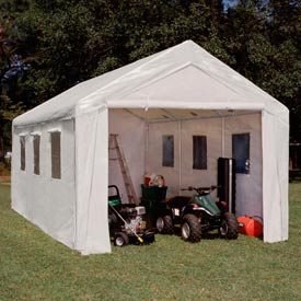 Extra HD Hercules™ Enclosed Canopy With Windows 20'L x 10'W - White
