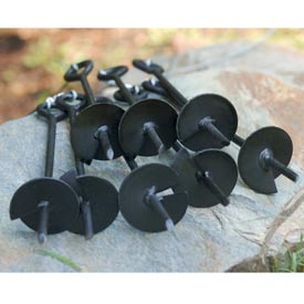 King Canopy 8 PC Anchor Kit With Ropes A8200, Black