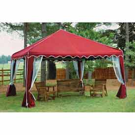 10' x 10' Red Garden Party Canopy With Screens