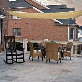 10' Quadrilateral Yellow Sun Shade Sail
