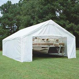 King Canopy Sidewall Kit With Flaps For 18'W x 20'D Hercules™ SWK1820WF-2, White