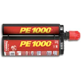 Powers 0500SD - PE1000+® Adhesive Anchor, Dual Cartridge, 13 OZ. - Pkg of 12