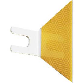 Butterfly Guardrail Marker, Bolt-On, Yellow - Pkg Qty 200