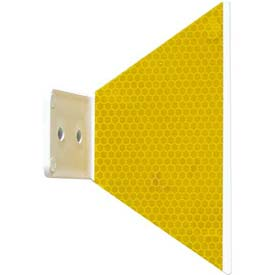 Butterfly Guardrail Marker, Glue-On, Yellow - Pkg Qty 200