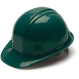 Green Cap Style 4 Point Ratchet Suspension Hard Hat - Pkg Qty 16
