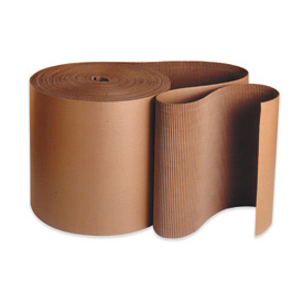 "24 Single Face Corrugated Kraft ""A"" Flute Corrugated - 250' / Roll"