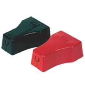 Quick Cable 5704-050R Red Straight Clamp Terminal Protectors, 4 & 6 Gauge, 50 Pcs