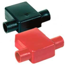 Quick Cable 5725-050R Red Flag Clamp Terminal Protectors, 1 & 2 Gauge, 50 Pcs by