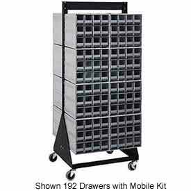 """Quantum QIC-270-161 70""""H Double Sided Floor Stand with 384 Gray Drawer Interlocking Storage Cabinet"""