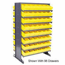 """Quantum QPRD-501 Double Sided Rack 24""""x36""""x60"""" with 144 Yellow Euro Drawers"""