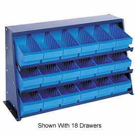 "Quantum QPRHA-567 Bench rack 12""x36""x21"" with 19 Blue Euro Drawers"