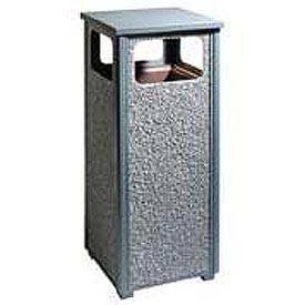"Rubbermaid® FGR12 Aspen 12 Gallon Flat Top Waste Receptacle, Gray, 13-1/2"" Sq. x 32"" H"