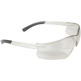 Radians AT1-10 Rad-Atac Half Frame Safety Glasses, Clear Lens, Clear Frame Package Count... by