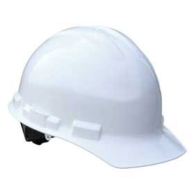 Radians GHP6 Granite Cap Style Hardhat, 6 Point Pinlock, White by