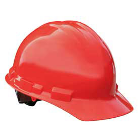 Radians GHR6 Granite Cap Style Hardhat, 6 Point Ratchet, Red by