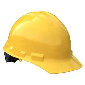 Radians GHR6 Granite Cap Style Hardhat, 6 Point Ratchet, Yellow by