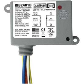 relays and sequencers relays rib 174 enclosed power relay rib2401b 20a spdt 24vac dc 120vac