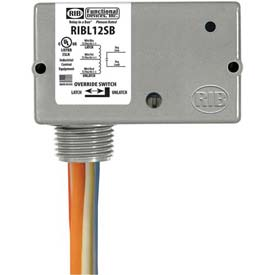 RIB Enclosed Latching Relay RIBL12SB, 20A, 12VAC/DC, W/switch by