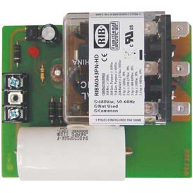 "RIB Panel Relay RIBM043PN-HD, 4"" x 3.25"", 20A, 3PDT, 480VAC by"