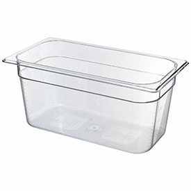 Rubbermaid Commercial FG118P00CLR - Cold Food Container, 1/3 Size, 5-3/8 Qt., Polycarbonate, Clear - Pkg Qty 6
