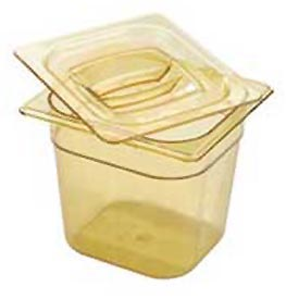 Rubbermaid Commercial FG206P00 - Hot Food Container, 1/6 Size, 2-1/2 Quarts, Amber