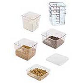 Rubbermaid Commercial FG630600CLR - Square Space-Saving Container - 6 Quarts - Pkg Qty 12