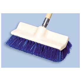 "Rubbermaid® 10"" Bi-Level Plastic Deck Scrub Brush W/ Polypropylene Fibers, Blue - RCP6337BLU - Pkg Qty 6"