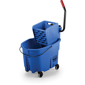 Rubbermaid WaveBrake® Side Press Mop Bucket & Wringer Combo - Blue