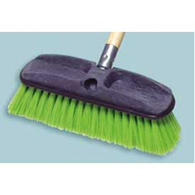 "Rubbermaid® 10"" Nylon Fill Truck Brush W/ Plastic Block, Green - RCP9B72GRE - Pkg Qty 6"