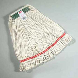 """Web Foot® Medium Cotton/Synthetic Wet Mop Heads W/ 1"""" Headband, White 6/Pack - RCPA112WHI"""